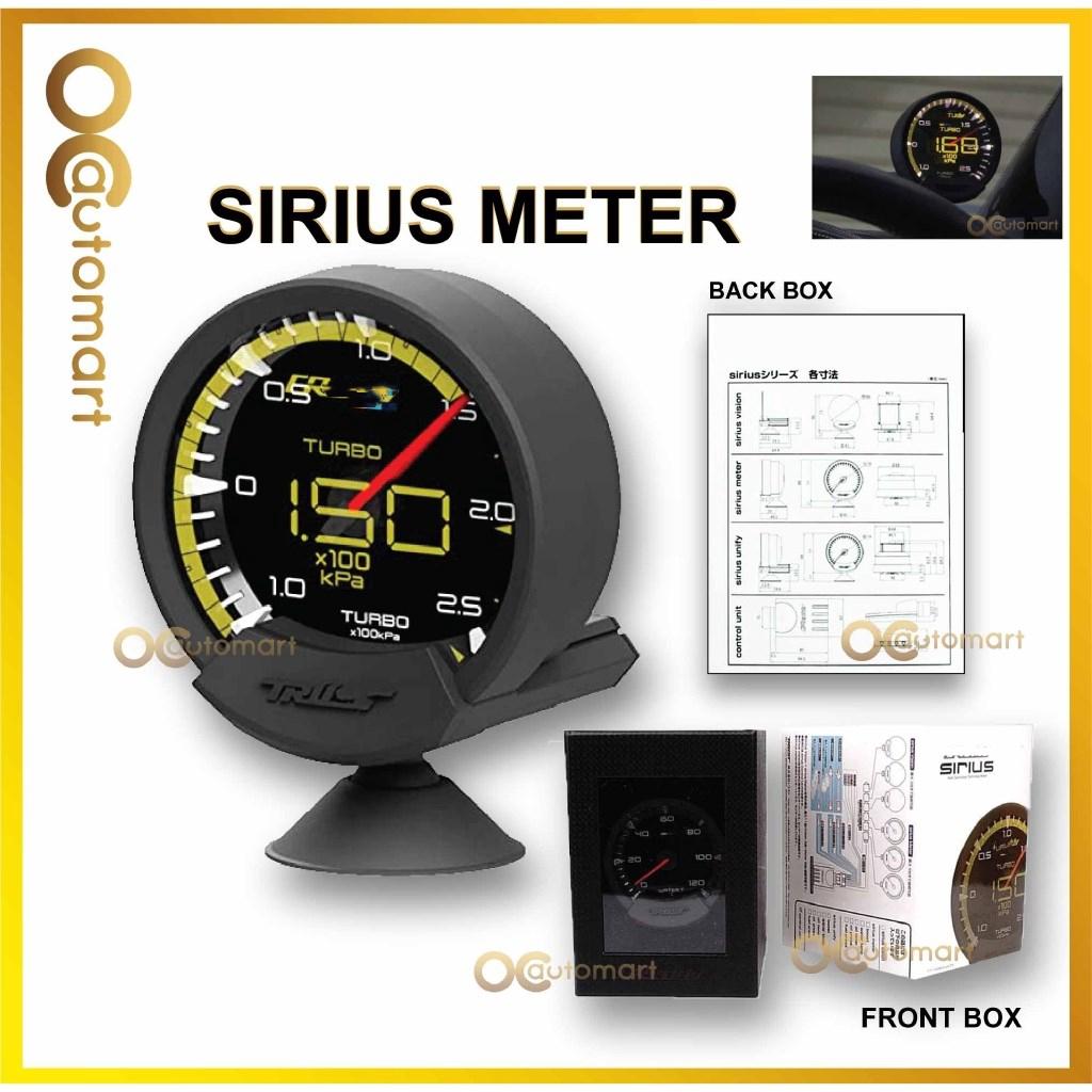 Brand G Sirius Meter Series Trust 7 Colors Water temp Oil Temp Oil Press Turbo Boost RPM Voltage Car Gauge With Sensors
