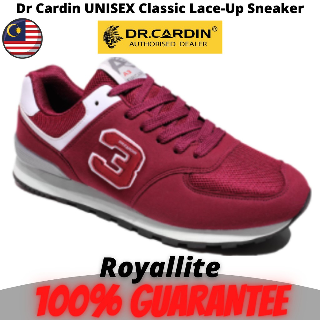 Dr Cardin UNISEX Classic Lace-Up Sneaker (A3E-60981) Maroon