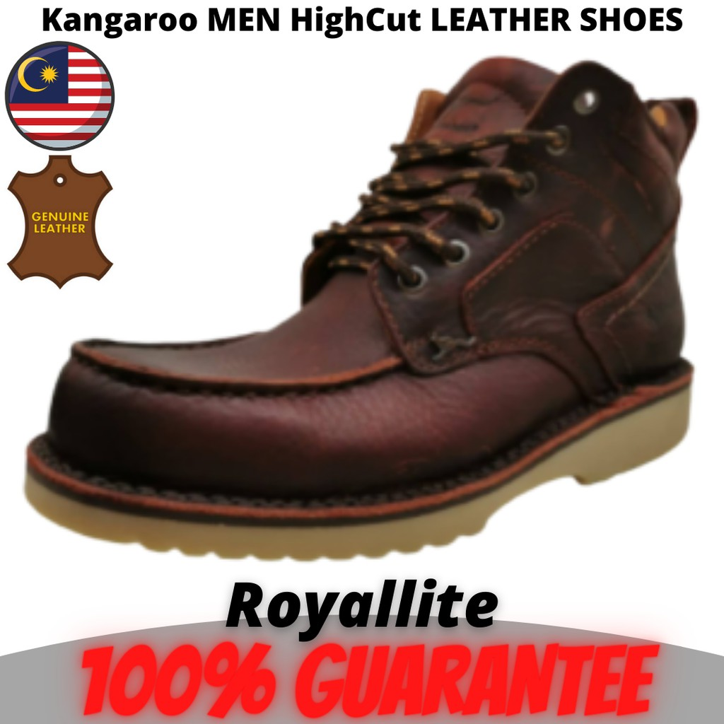 Kangaroo MEN HighCut LEATHER SHOES (9402) A31Maroon