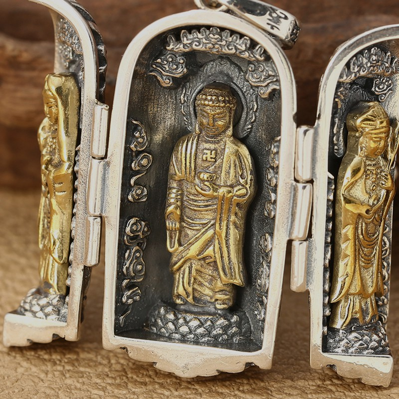 925 SILVER PERSONALITY CLASSIC WESTERN PENDANT TREND GUANYIN PENDANT GIFT