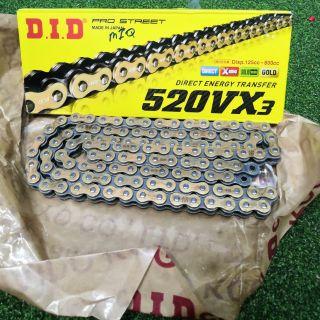520VX3 Pro-Street Chain Chain# 520VX3 D.I.D Chain