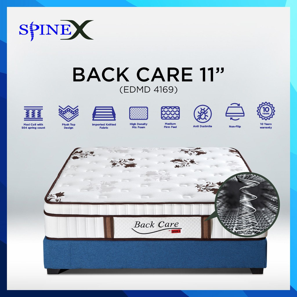 SpineX mattress 11''thk/Maxi Coil Spring / Single/Super Single/Queen/King