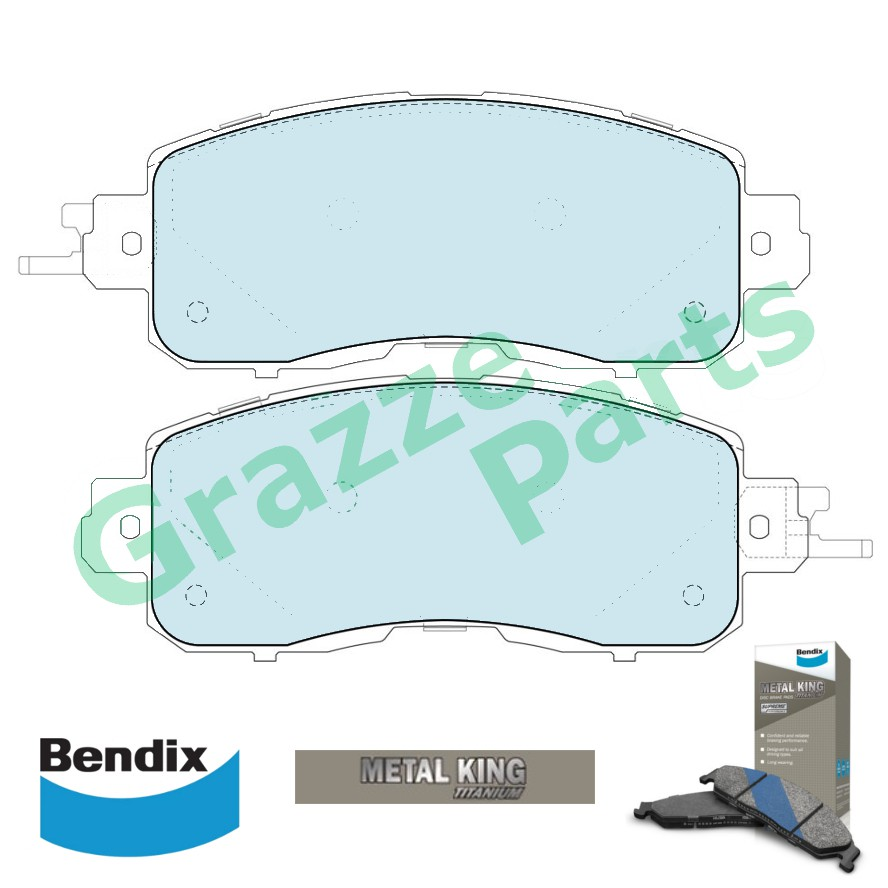 Bendix Metal King Titanium Disc Brake Pad Front for DB2336 - Nissan Teana L33