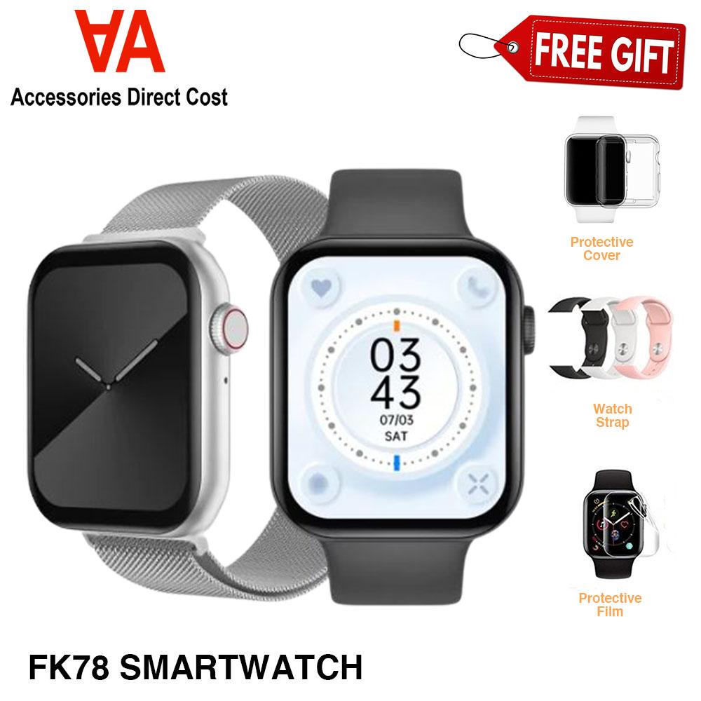 Ready stock FK78 smart watch 1.78 full screen Bluetooth call smartwatch Series 6 Heart Rate Fitness Tracker Pedometer