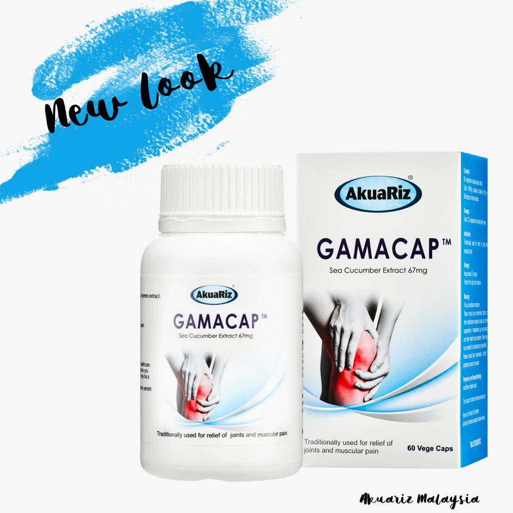AKUARIZ GAMACAP (Sea Cucumber Extract) 67mg 60 Capsules