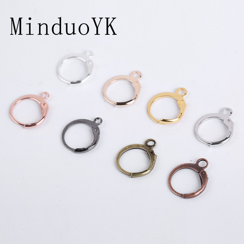 Jewelry French Lever Base Hoops Earrings Earring Hooks Wire Settings 20Pcs//Lot