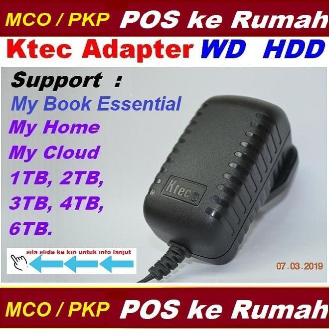 Ktec Netzteil Western Digital 12V 1,5A 18W für WD My Book Elements My Cloud