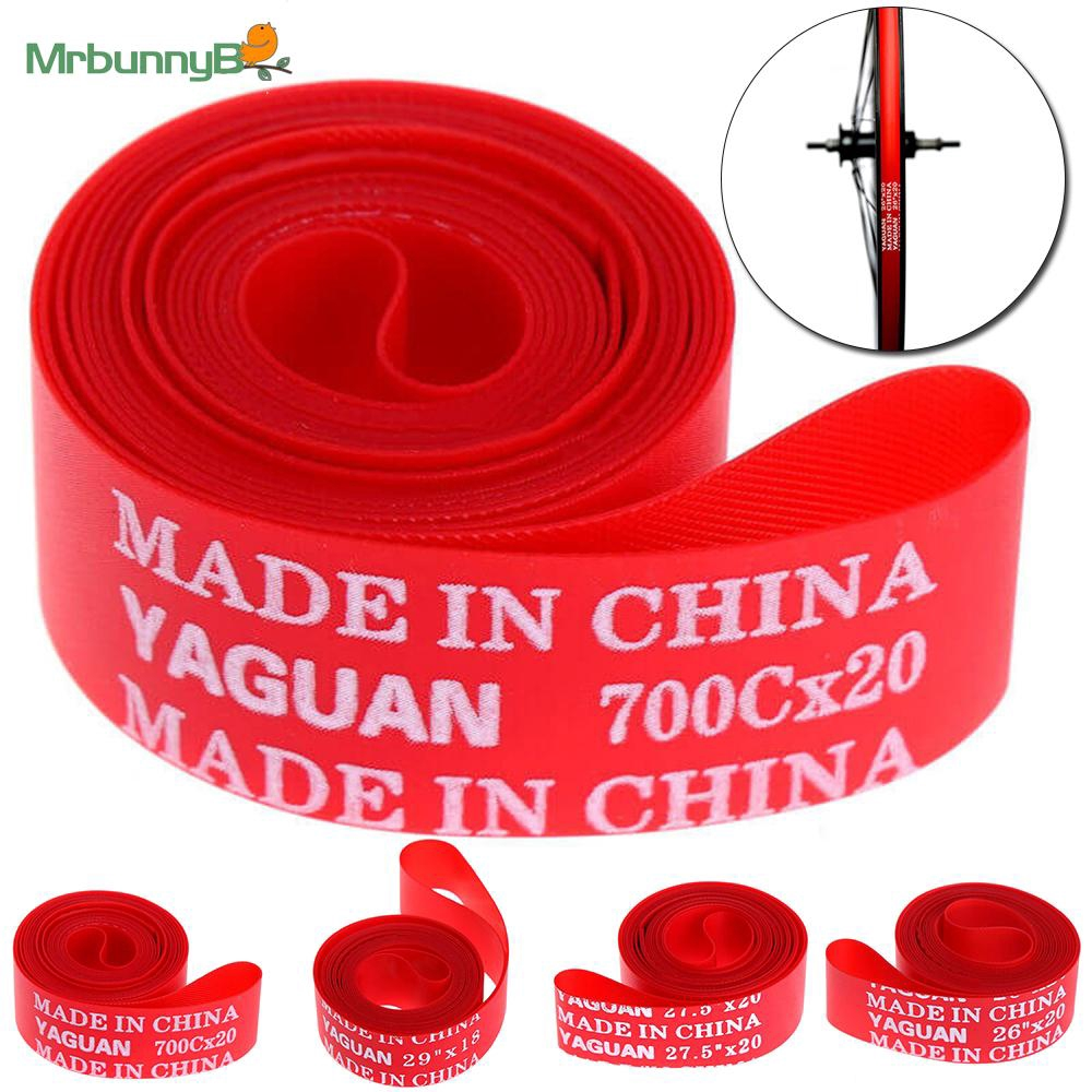 "Red Universal Bike Rim Tyre Wheel Liner Inner Tube Protector 700c//14/""//20/""//26/"""