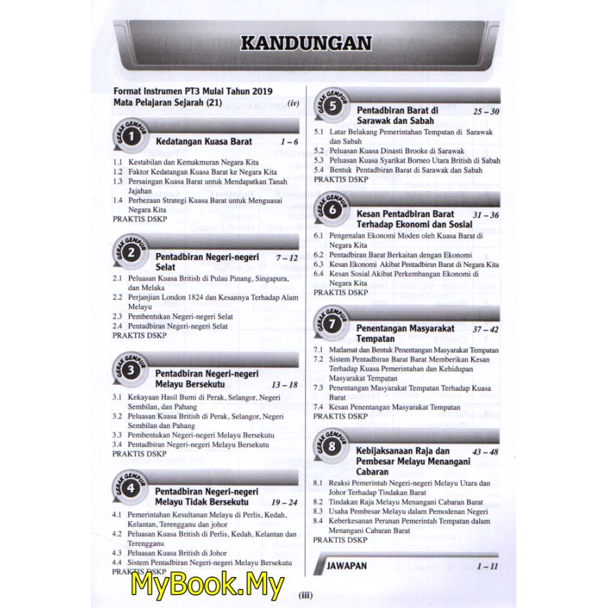 Myb Buku Latihan Gerak Gempur Pt3 Tingkatan 3 Sejarah Sasbadi Shopee Malaysia
