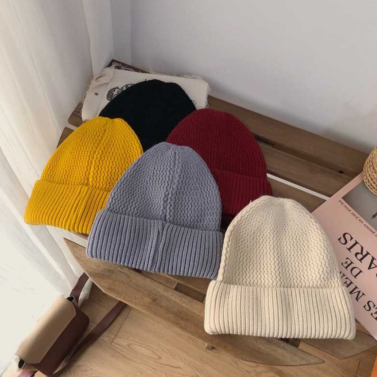 Skull Caps Hope in Fight Cancer Winter Warm Knit Hats Stretchy Cuff Beanie Hat Black