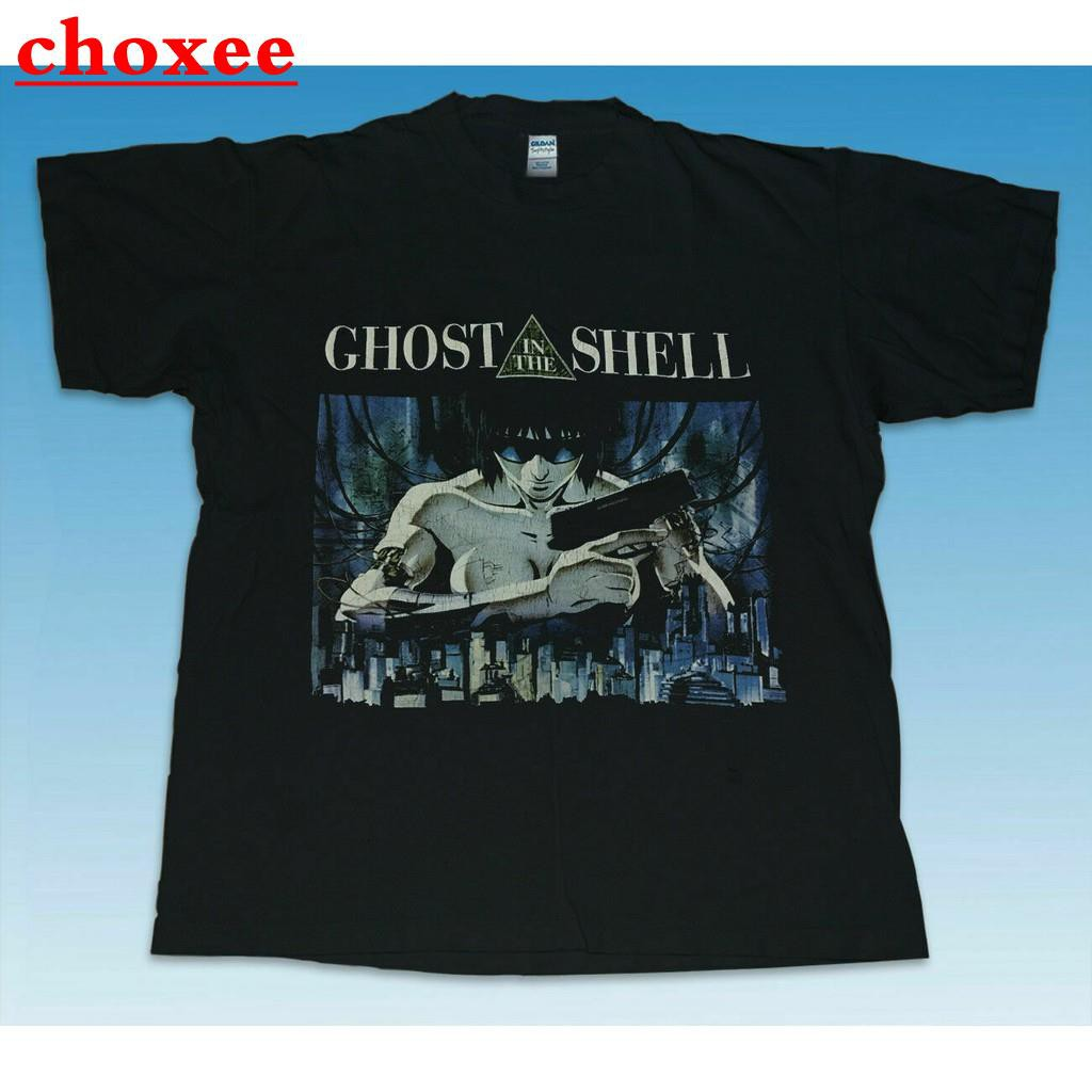 Hot Men Vintage Ghost In The Shell T Shirt New Casual Men Cool T Black Shopee Malaysia
