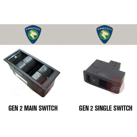 OEM Power Window Switch for Proton Gen 2 (Main Switch/Single Switch)