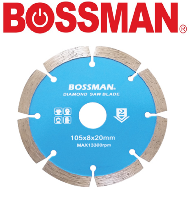 BOSSMAN BF2AB  SEGMENTED CUTTING WHEEL DIAMOND GRINDING DISC ACCESSORIES EASY USE  GOOD QUALITY