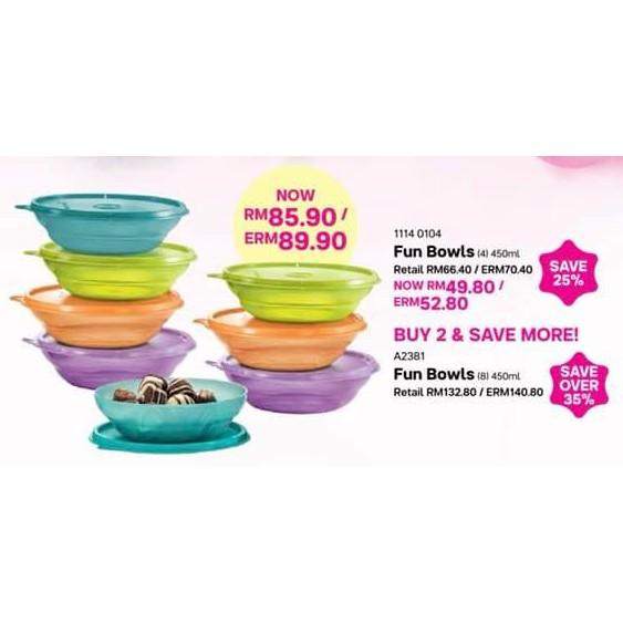 Tupperware Fun Bowls 450ml