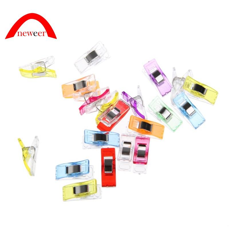 0395eb3b63d15 20Pcs Plastic Clip Stitching Tool Food Bag Clip Color Random Neweer
