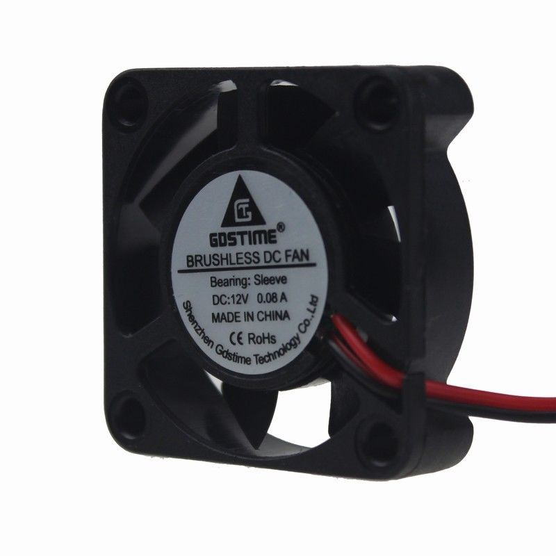 0.08A 12V mini 4cm 40mm 40x40x10mm Brushless Cooling Cooler Fan 2Pin 7blades