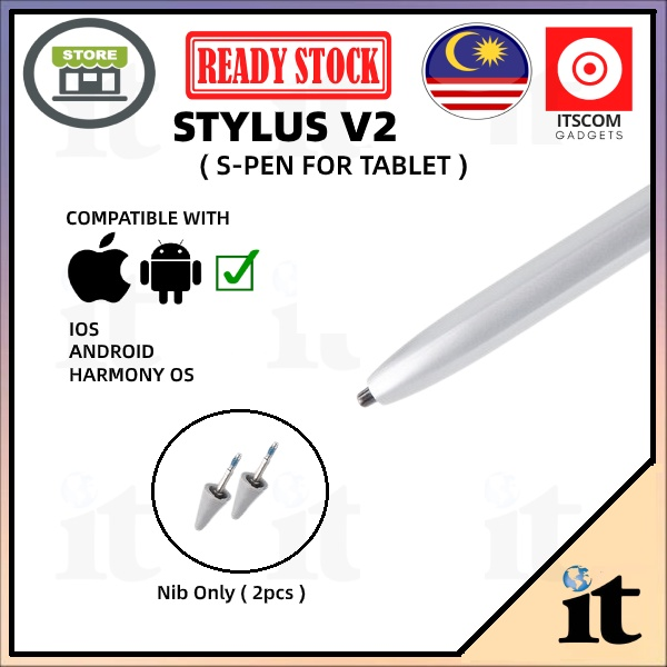 Stylus V2 Stylus Pen Type-C for Android Product & Apple Product - READY STOCK MALAYSIA