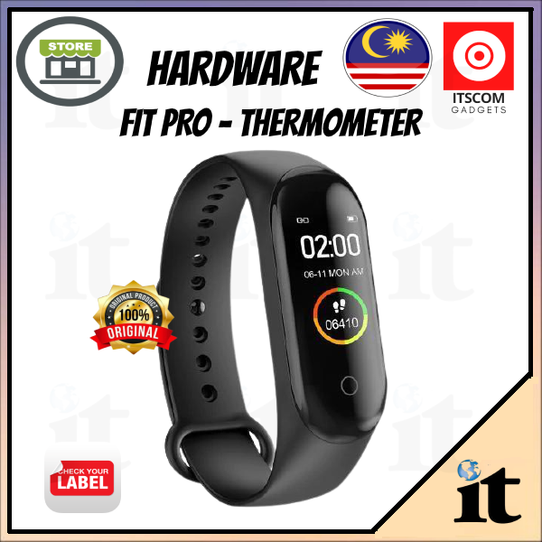 [READY STOCK]  Hardwear FitPro The First Smart Band W Thermometer (3 Color Band)