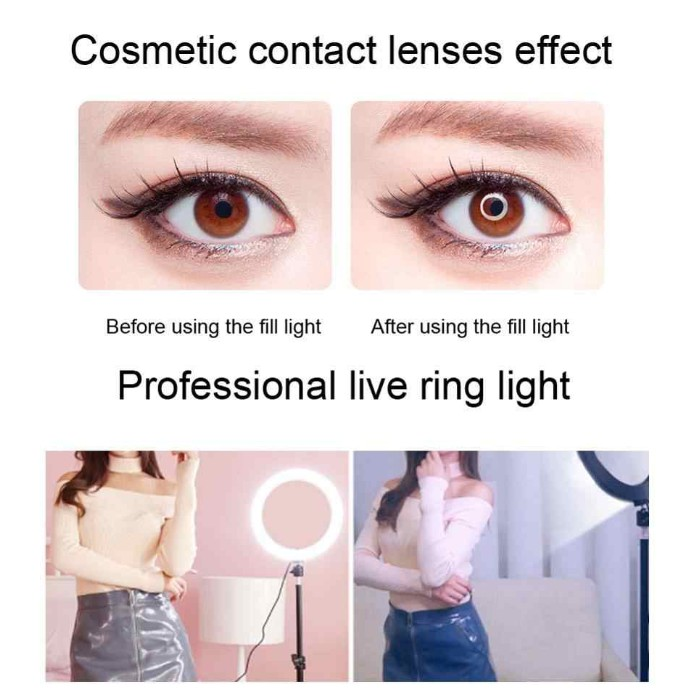 """LC330 SELFIE LIVE STREAMING 12"""" RING LIGHT PROFESSIONAL LED PHOTOGRAPHY DIMMABLE CIRCLE FLASH FILL IN LIGHT FOR STUDIO"""