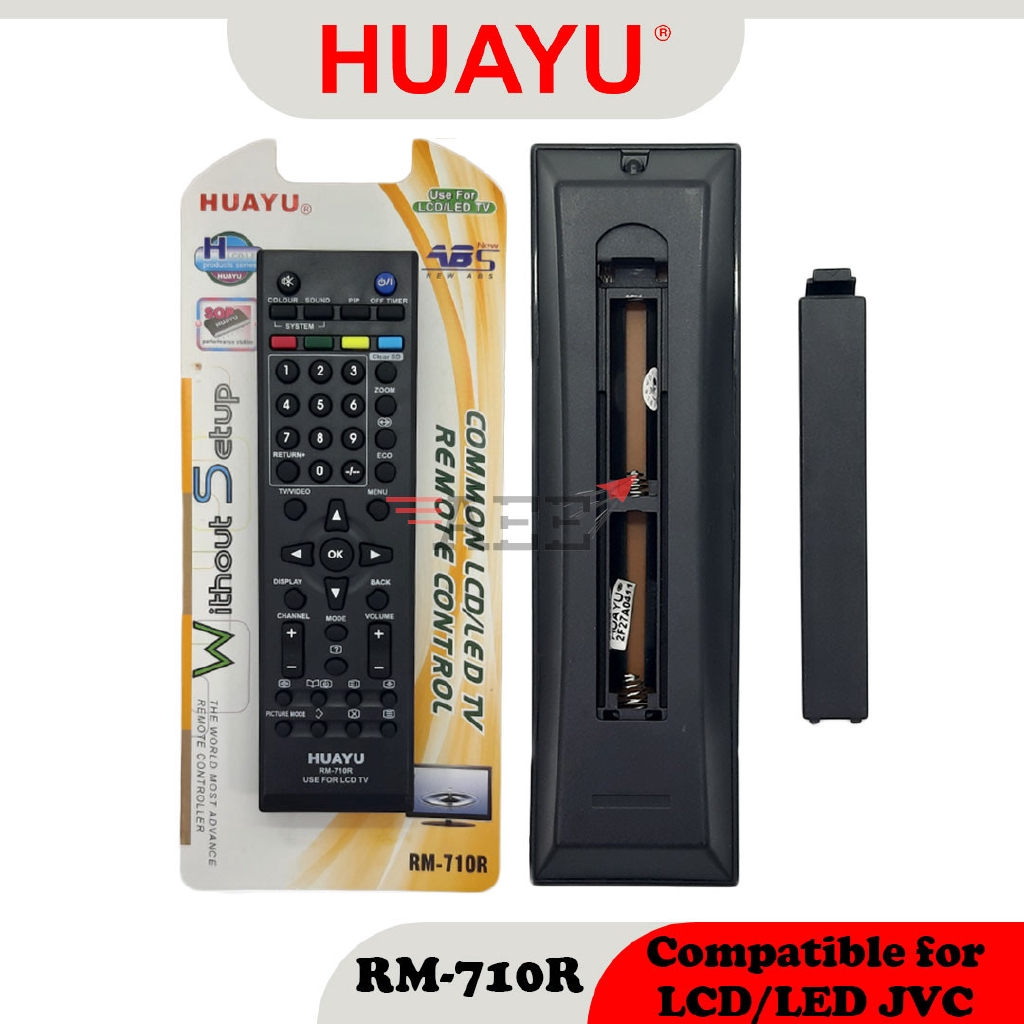 Huayu RM-710R Multi LCD TV Remote Control (Compatible: JVC)