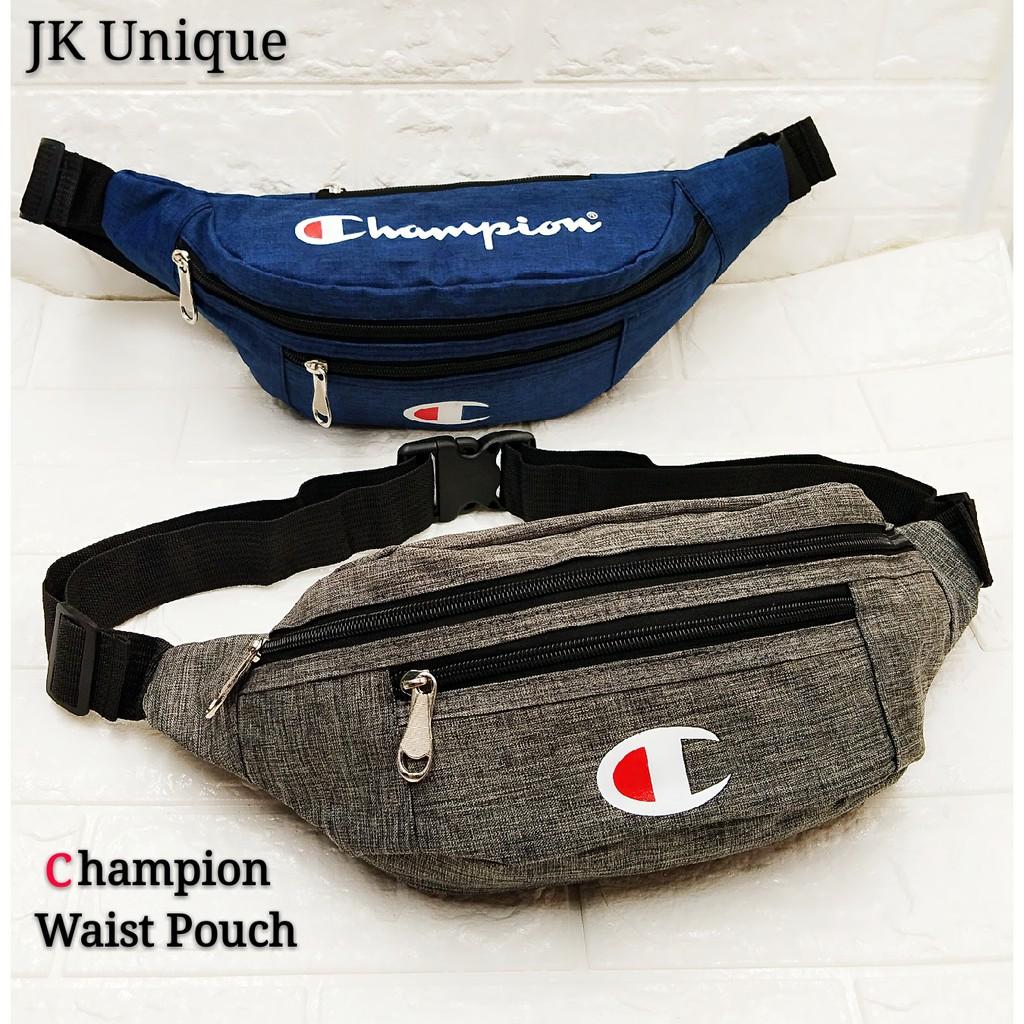 a183334cfd4a Champion Waist Pouch Chest Bag Sling Bag Waist Bag Motor Hiking Running  Pouch | Shopee Malaysia