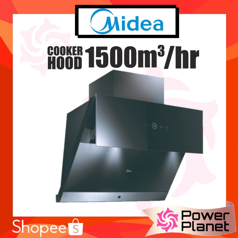 Midea Cooker Hood MCH-90TRS Skyline with Advanced Steam Wash Smart Cleaning MCH90TRS