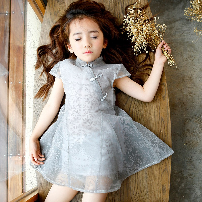 a8297669a ProductImage. ProductImage. Girls dresses summer childrens big children  Chinese wind ...
