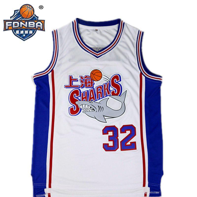 new style c0281 daed4 FDNBA Basketball Jersey Basquetball SHANGHAI Shark #32 Cheap ...