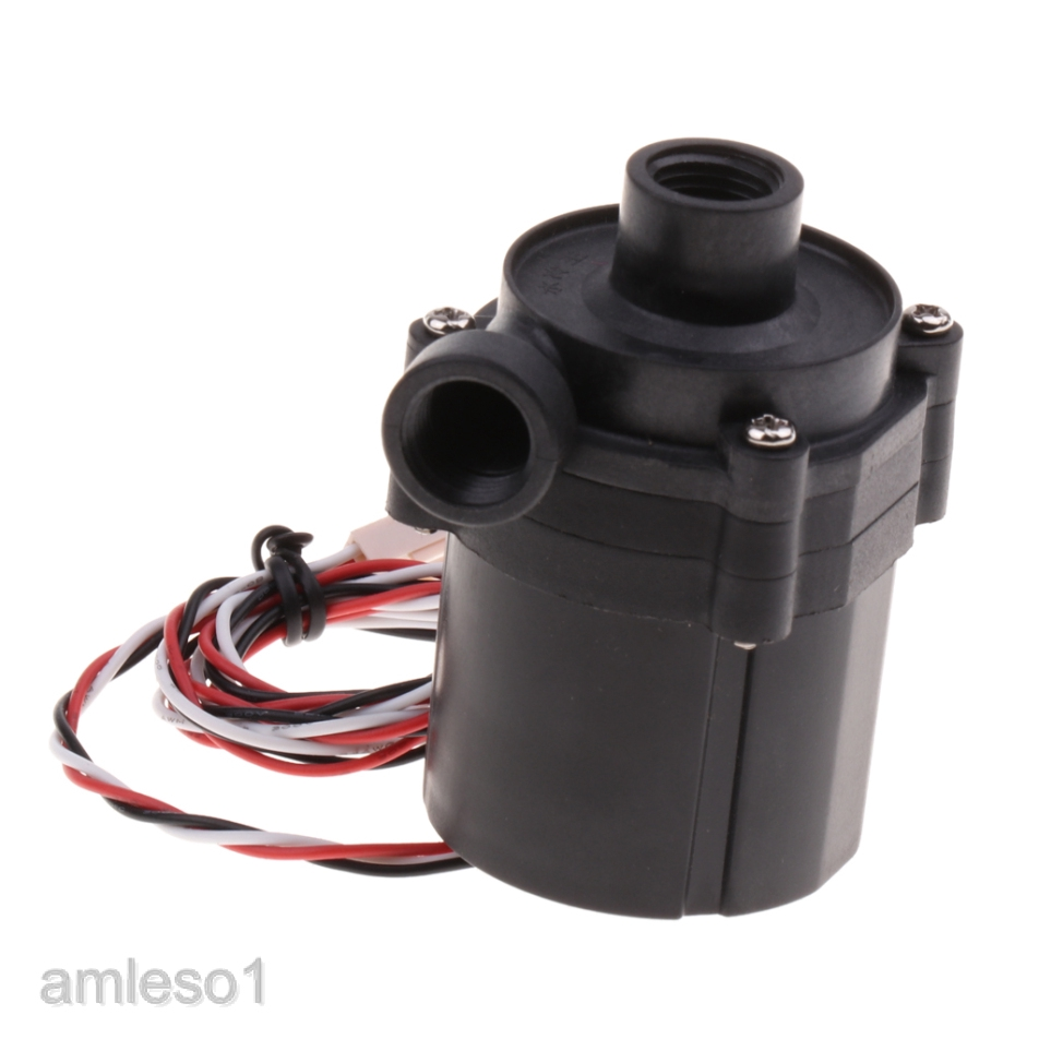 DC 12V 0.8A 10W Pump Water Cooler Motors Speed Line No Brushless 3-pin Plug