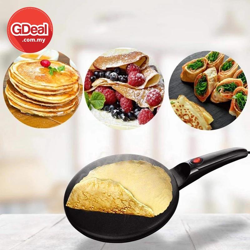 GDeal Multi Functional Electric Pancake Machine Crepe Maker Baking Pan Mesin Pembuat Lempeng ميسين ڤمبوات لمڤڠ
