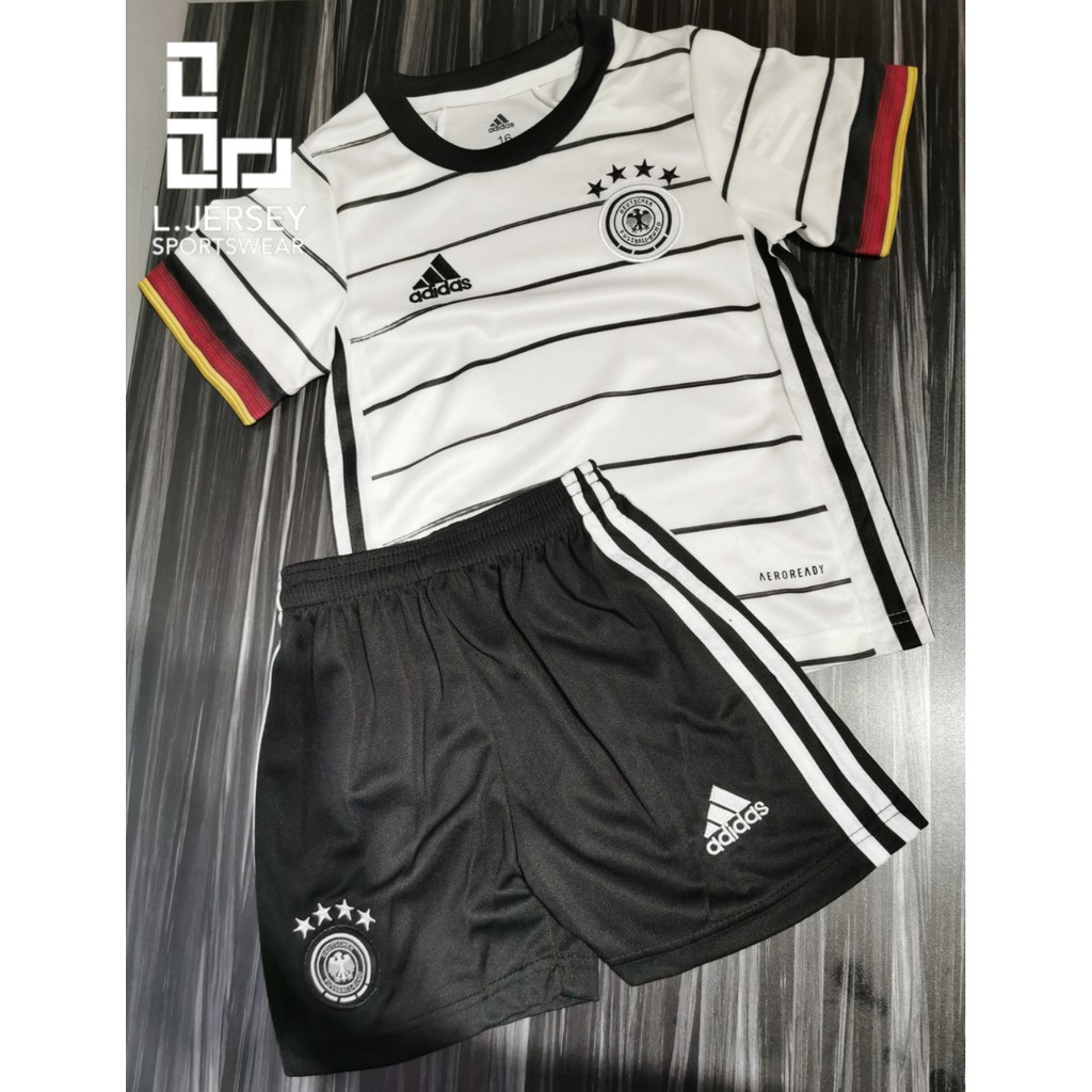 Germany Kid Home Euro Cup Season 20/21 CLIMALITE Fans Jersey