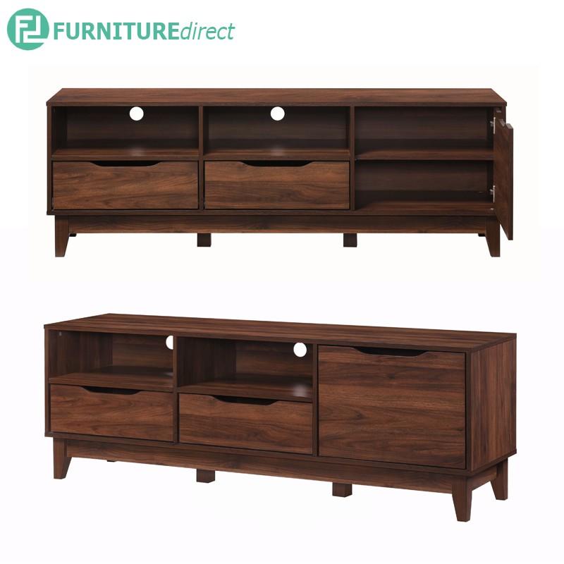 LOTUS 160cm TV cabinet in walnut effect/ rak tv