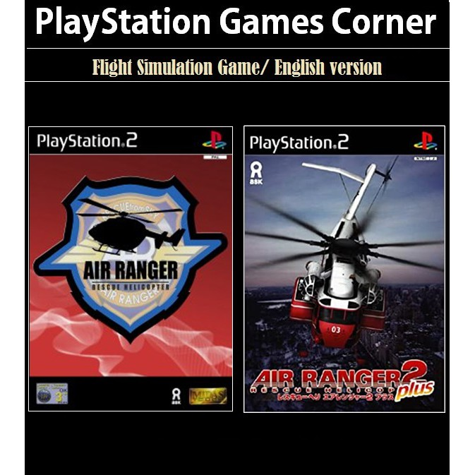 PS2 Game Air Ranger Rescue 1 2, Helicopter Simulation Game, English version / PlayStation 2