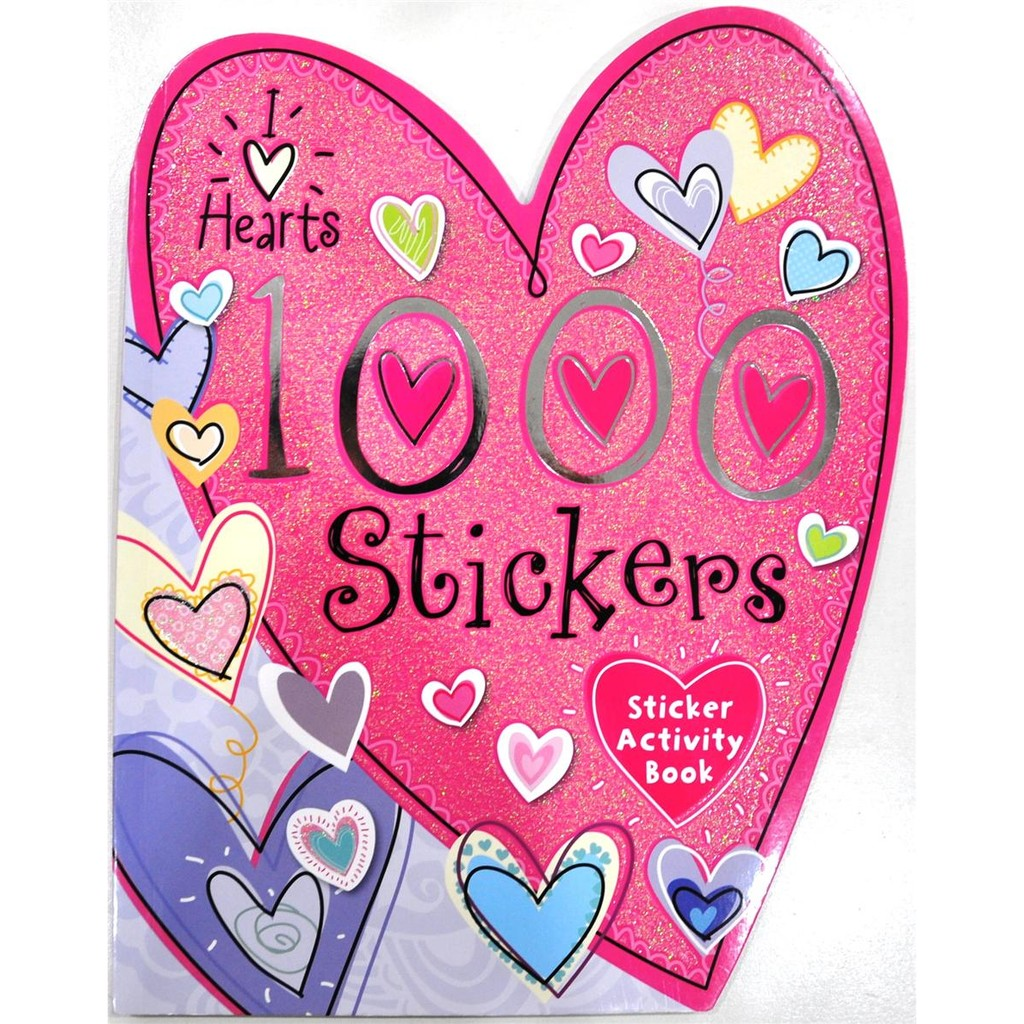 I Love Hearts 1000 Stickers Sticker Book Activity Shopee Books My Pretty Pink Malaysia