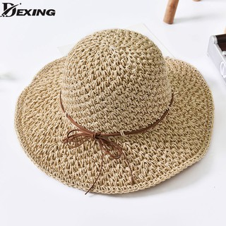 9600946c5 Xthree Good quality Summer hat women Raffia straw cap Ladies Big brim Sun  hat | Shopee Malaysia