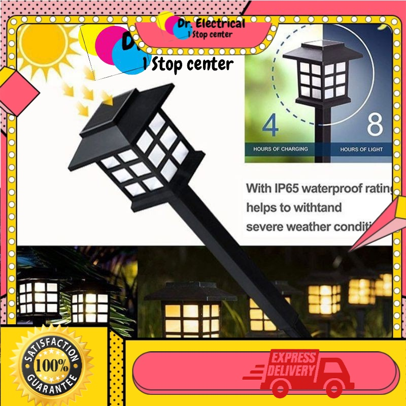 Ready Stock M'Sia Solar Powered Pathway Waterproof LED Light for Garden Landscape Path Yard Patio Driveway Walkway