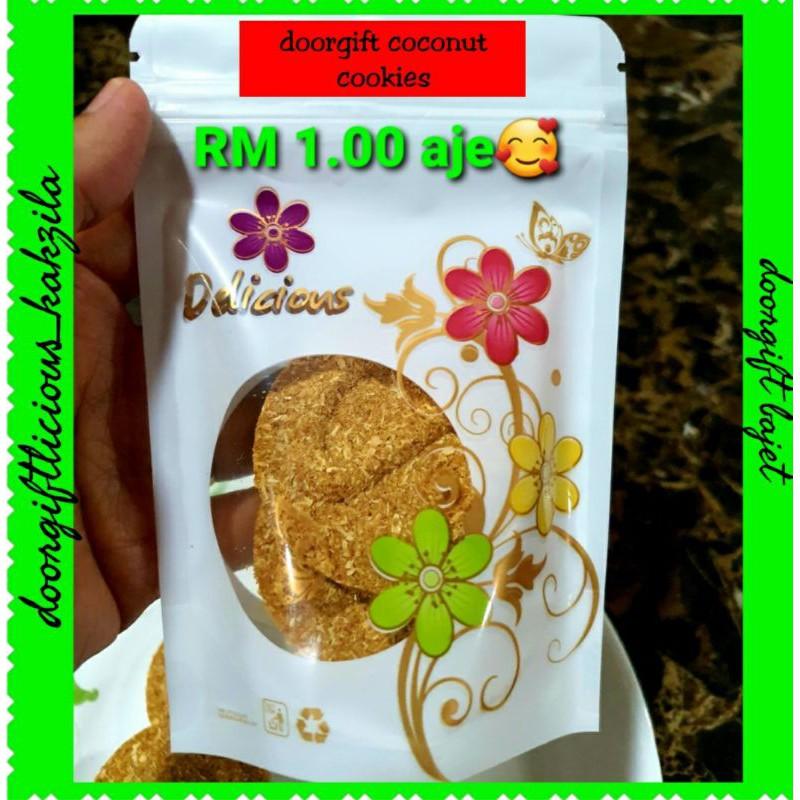 *Doorgift murah RM1.00 coconut cookies legend*wt ziplock delicious