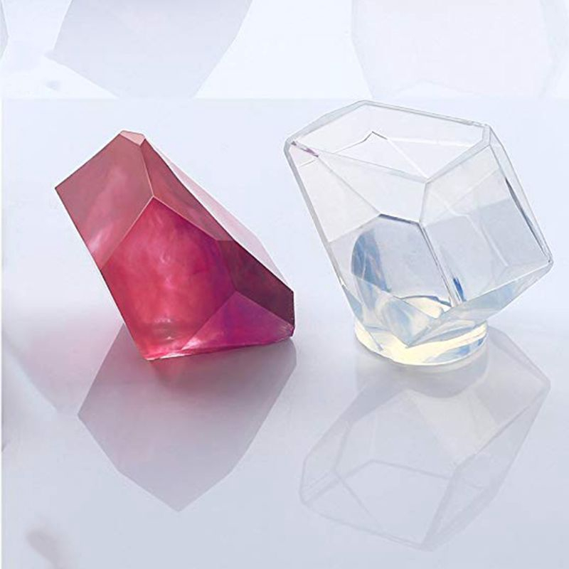 3 Shapes DIY Resin Diamond Jewelry Casting Molds The Multi-Faceted Large Silicone Mold for Making Crafting