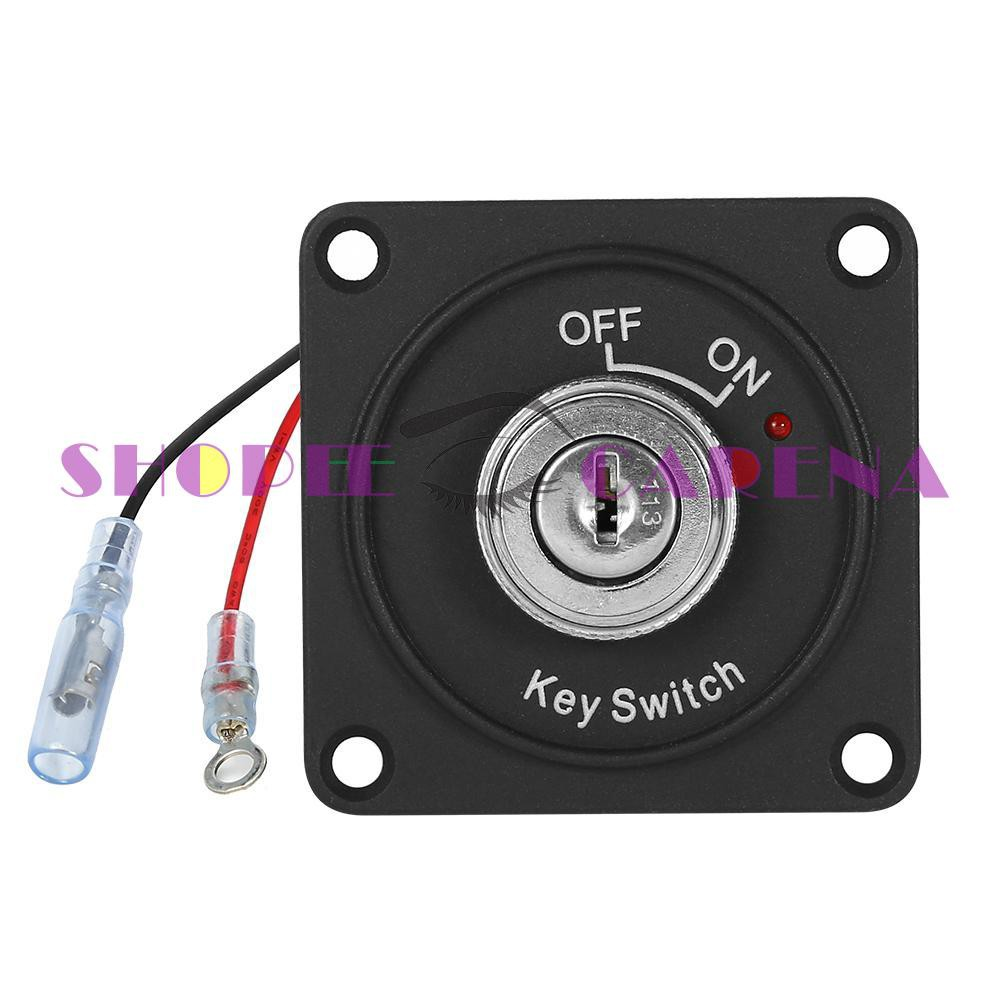 ✔SCS✔DC 12V 10A Ignition Switch 2 Position ON/OFF Key Switch with Panel+2  Keys☜☜