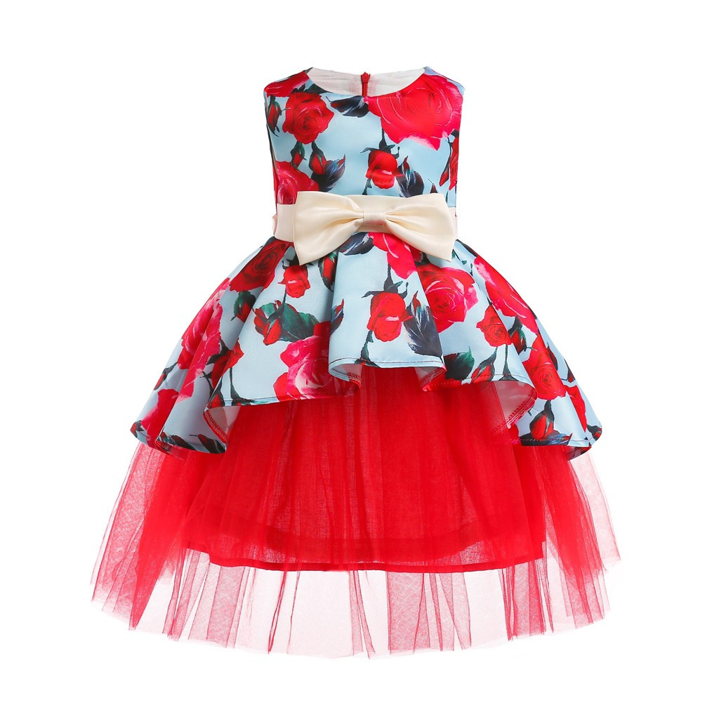 a65a9e4a5d 12M-7T Baby Girl Princess Bridesmaid Pageant Gown Birthday Party Wedding  Dress