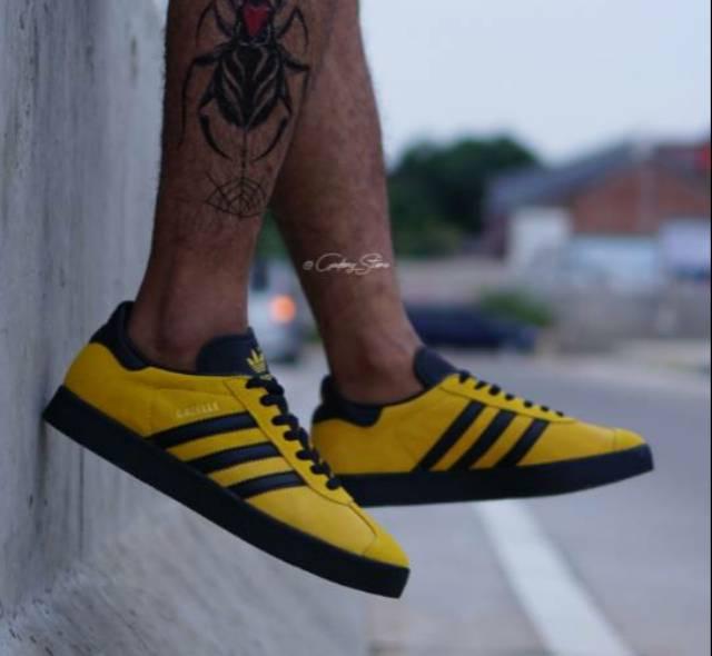 Adidas Gazelle Yellow Black Indonesia Shoes / Gazelle Yellow / Men's Women's Sneakers