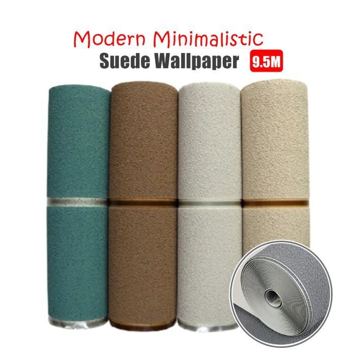 Michitrade Modern Minimalistic Suede Wallpaper Non-woven Striped Wall Paper Non-self-adhesive Paper
