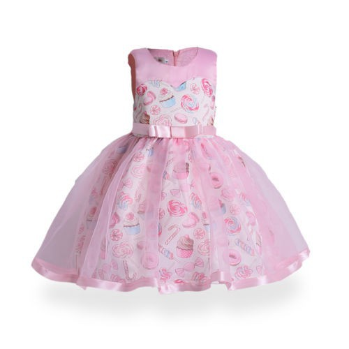 acc4ecbef6b05 Lovely Kids Girls Toddler Bridesmaid Wedding Party Princess Bow Tutu Dress  3-10Y