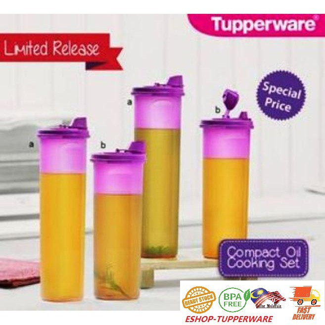 Tupperware Compact Cooking Oil Dispenser/Stor n Pour 890ml or 1.1L