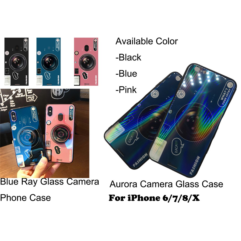 22b31d41804 Aurora   Blue ray Glass Case for iPhone