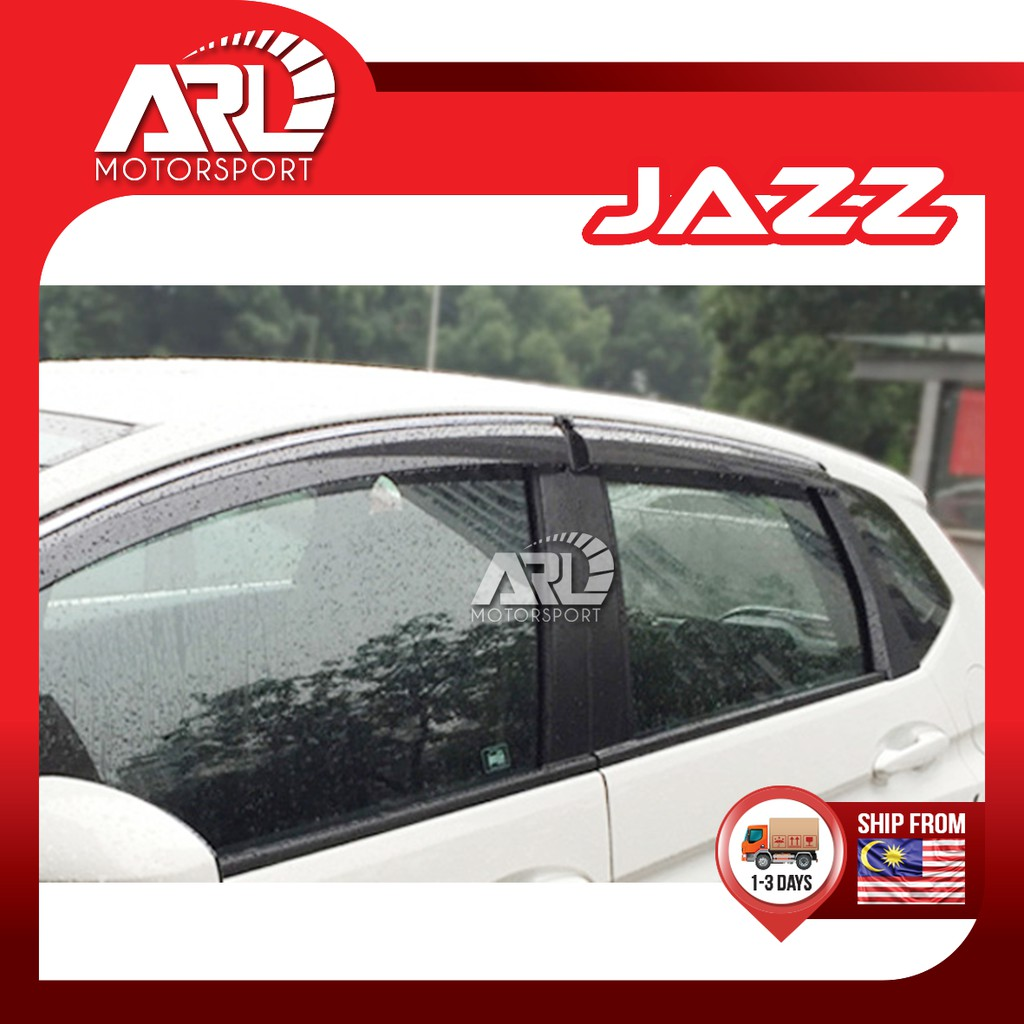 Honda Jazz / Fit (2014 - 2021) Door Visor With Chrome Lining Decoration Waterproof Car Auto Acccessories ARL Motorsport