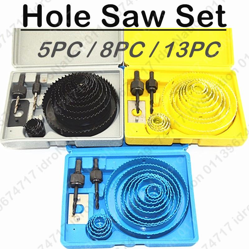 Iron Cutter Bimetal Hole Saw Drill Bit Kit w Hex Wrench - 11 pcs | Shopee Malaysia