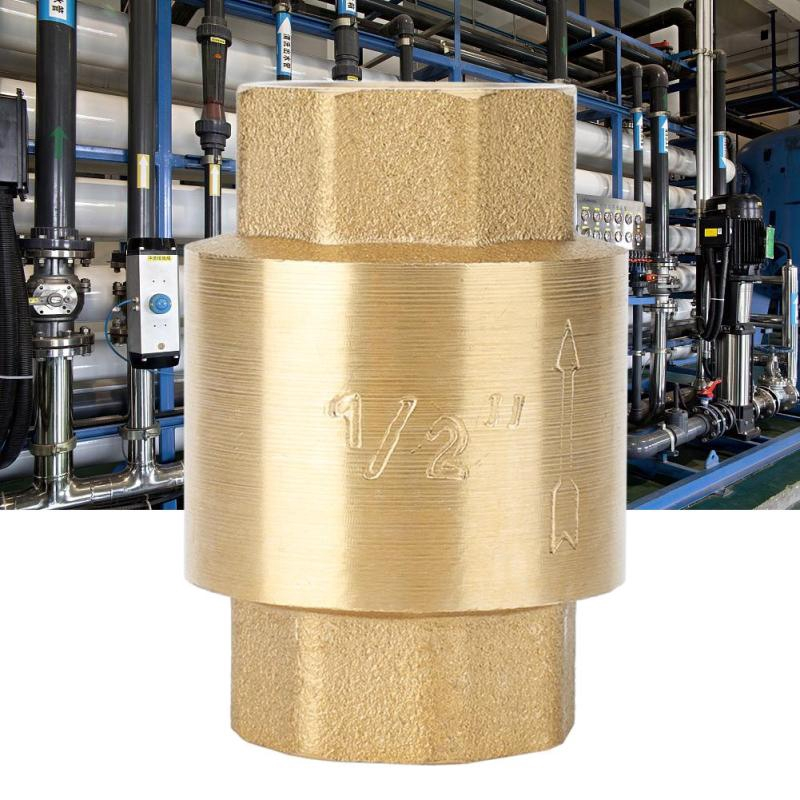 """Brass 1//4/"""" Threaded BSPP Female Full Ports One Way Air Check Valve Gas DECO"""