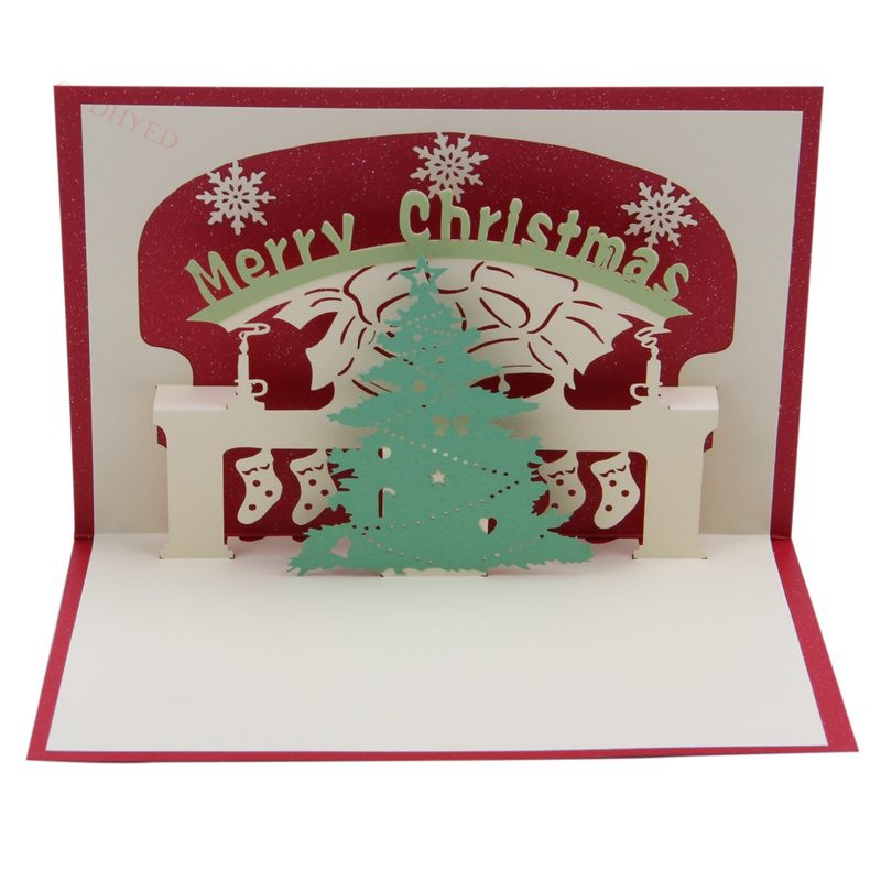 3d Pop Up Christmas Tree Greeting Cards Christmas Greeting Cards