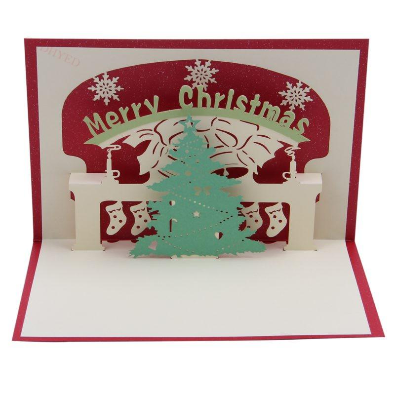 Christmas Bday Cards.3d Pop Up Christmas Tree Greeting Cards Christmas Greeting Cards